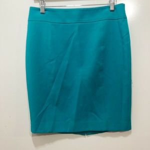 LOFT Size 6P Skirt Solid Green Straight Wiggle